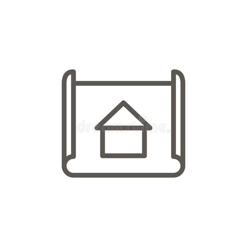 Arquiteto, modelo, ícone do vetor do projeto Ilustra??o simples do elemento do conceito de UI Arquiteto, modelo, ícone do vetor d ilustração stock