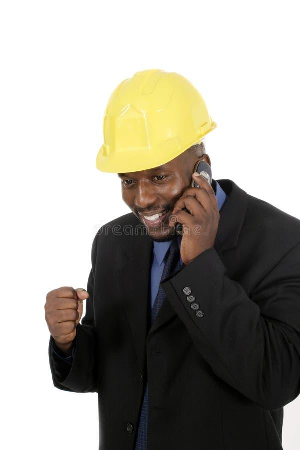 Arquiteto ou contratante de construção fotografia de stock