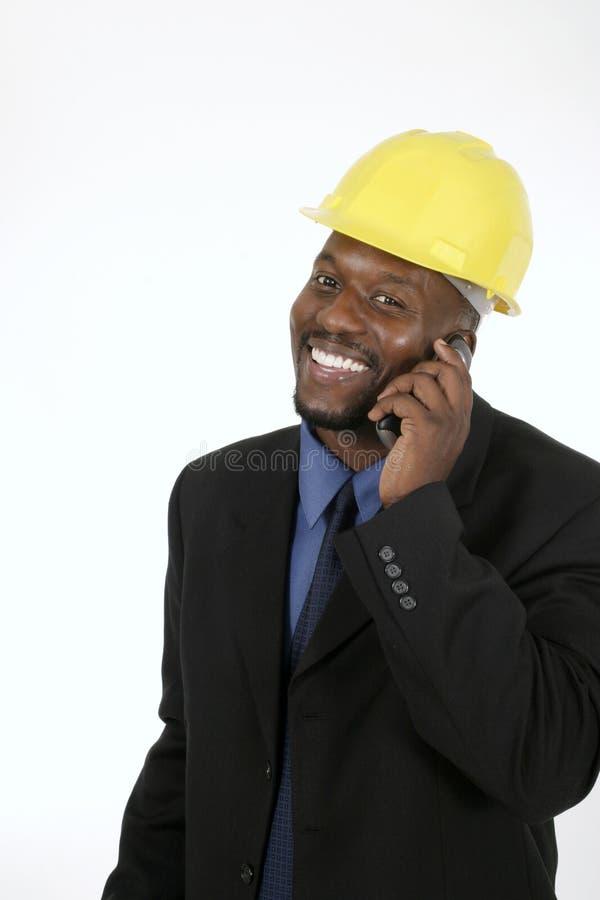 Arquiteto ou contratante de construção feliz foto de stock