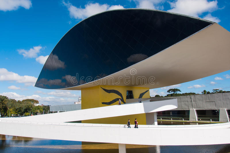 Arquitetos famosos museu de Oscar Niemayer, Curitiba, Brasil imagem de stock royalty free