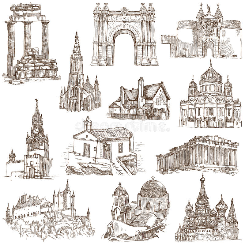Arquitetura ilustração royalty free