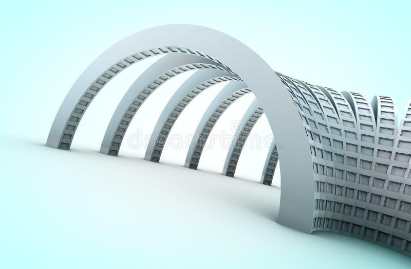 arquitetura 3d ilustração do vetor