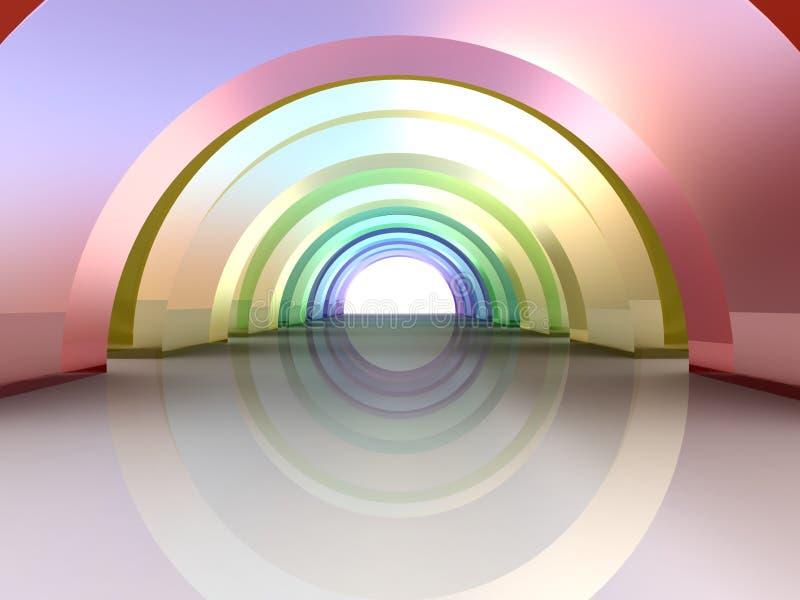arquitetura 3d abstrata ilustração do vetor