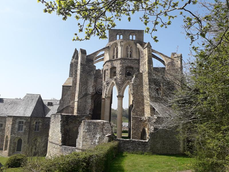 Arquitetura Abbaye Medievale foto de stock