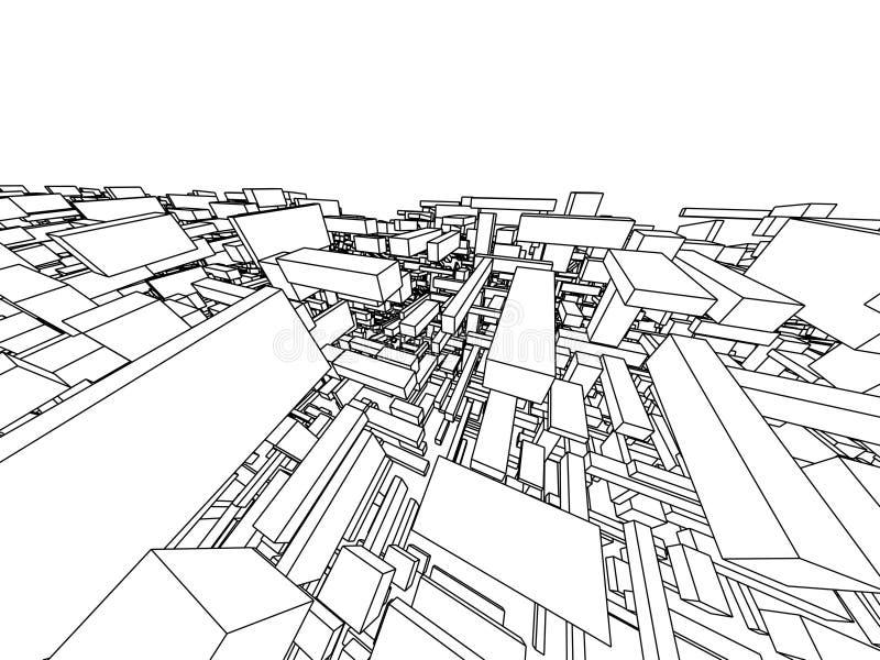 Arquitetura abstrata ilustração stock