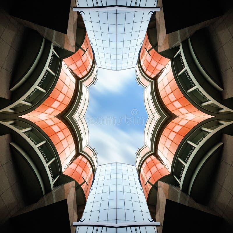 Arquitetura abstrata Biulding fotografia de stock