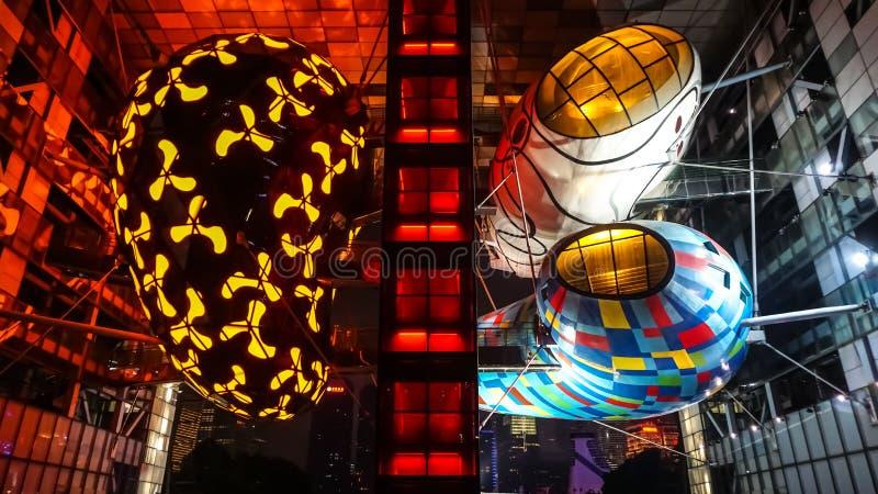 Arquitetura abstrata em Shanghai Objetos de Colorfull imagens de stock royalty free