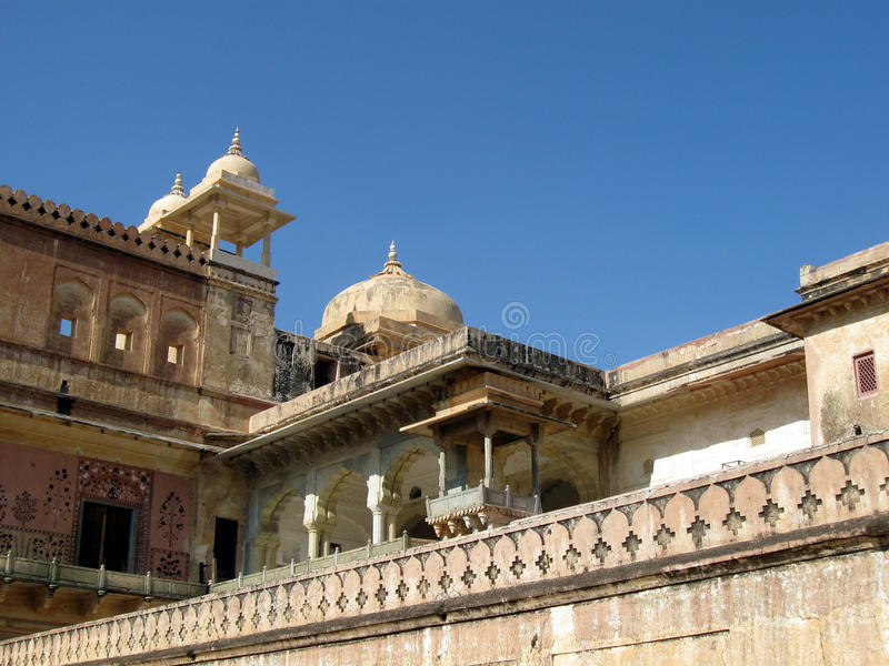 Arquitetura Amber Fort da Índia imagens de stock royalty free