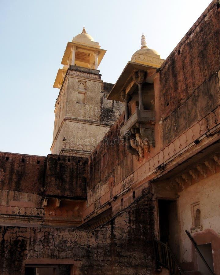 Arquitetura Amber Fort da Índia fotografia de stock