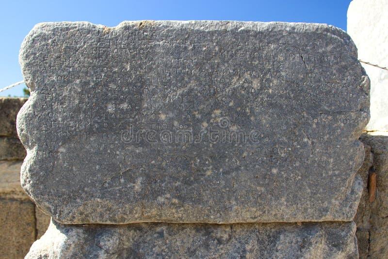 Arquitetura antiga de Kamiros Rhodos Grécia histórica foto de stock