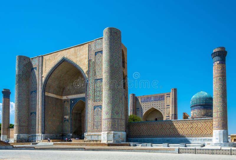 Arquitetura antiga exótica Samarkand, Usbequistão fotos de stock royalty free