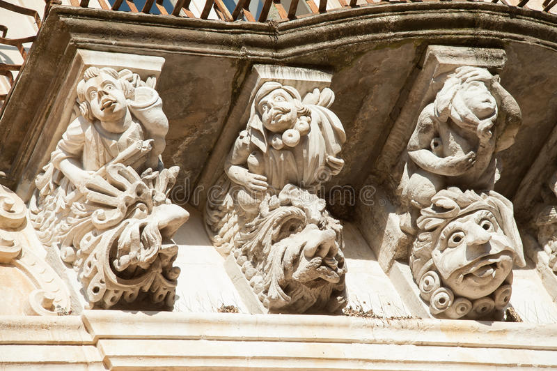 Arquitetura barroca imagens de stock royalty free