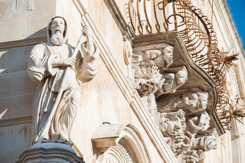 Arquitetura barroca foto de stock