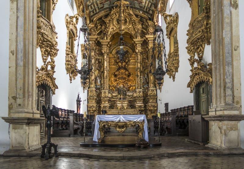 A arquitetura barroco da igreja de Carmo em Olinda fotografia de stock royalty free