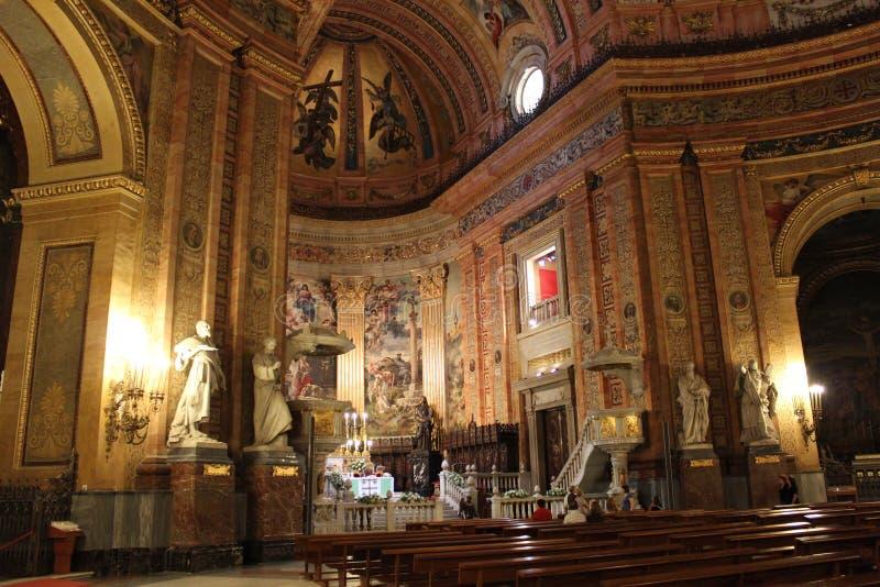 Arquitetura bonita Catedral gótico do Madri, Espanha imagens de stock royalty free