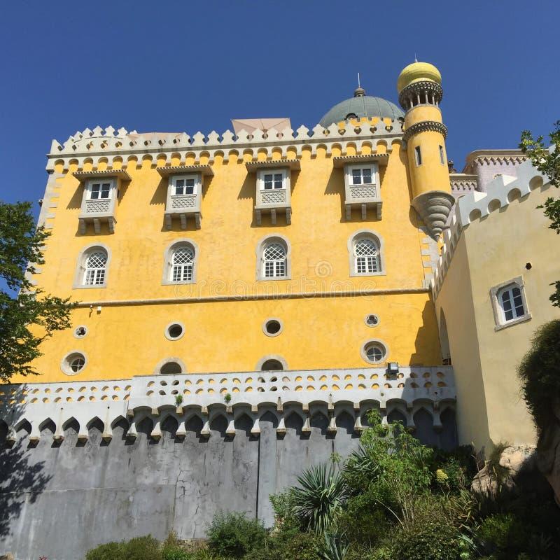 Arquitetura bonita do palácio Portugal de Pena foto de stock royalty free