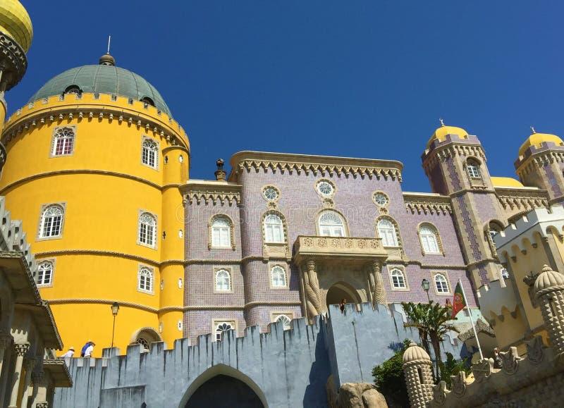 Arquitetura bonita do palácio Portugal de Pena imagem de stock