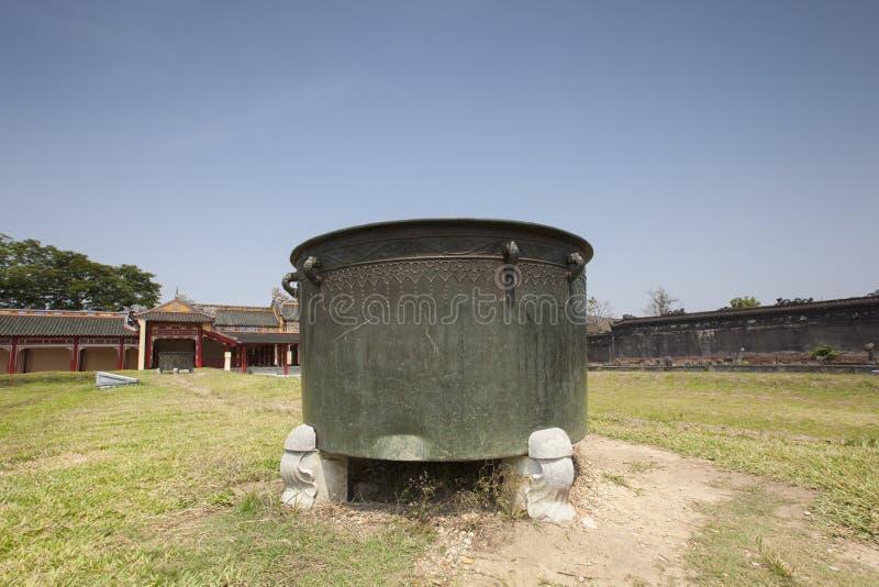 Arquitetura bonita em Hue Citadel em Vietname imagem de stock