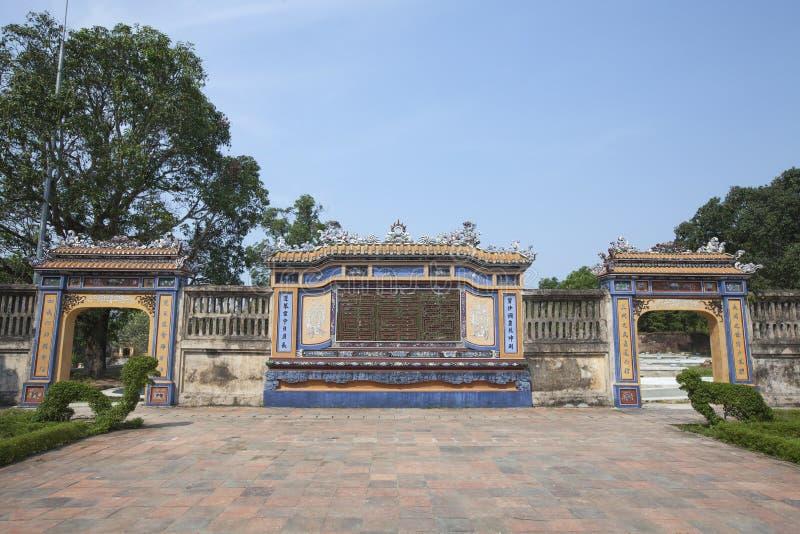 Arquitetura bonita em Hue Citadel em Vietname imagem de stock royalty free