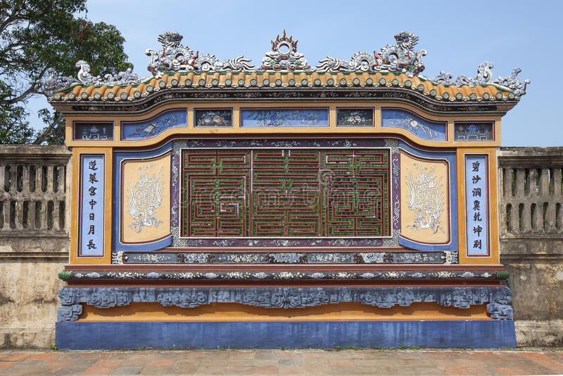 Arquitetura bonita em Hue Citadel em Vietname foto de stock royalty free