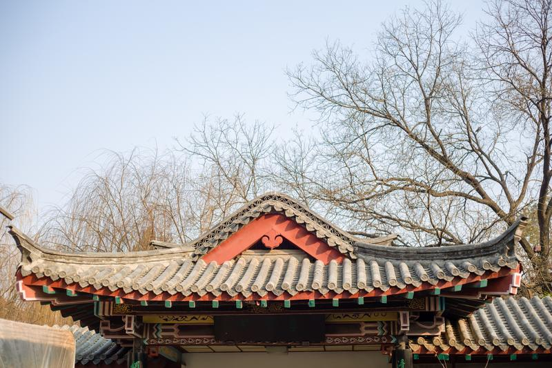Arquitetura chinesa antiga imagens de stock