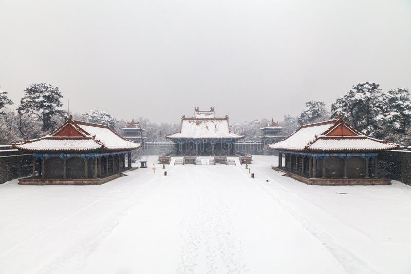 Download Arquitetura Chinesa Antiga No Inverno Imagem de Stock - Imagem de sculpted, ornate: 29844187