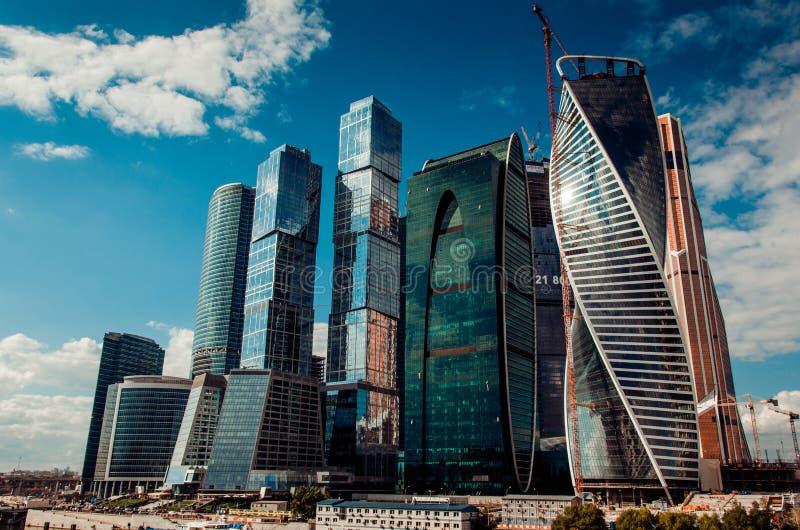 Arquitetura 'cidade de Moscou' imagens de stock royalty free