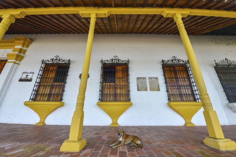 Arquitetura colonial em Mompox, Colômbia fotografia de stock