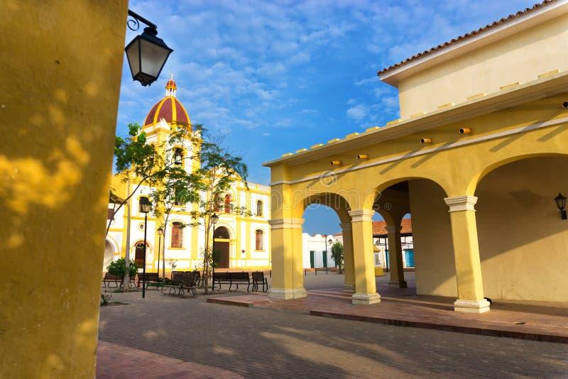 Arquitetura colonial em Mompox, Colômbia fotos de stock royalty free