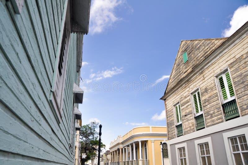 Arquitetura colonial em Ponce, Puerto Rico imagens de stock