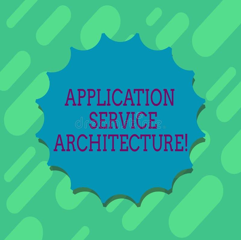 Arquitetura conceptual do serviço da aplicação da exibição da escrita da mão Projeto do texto da foto do negócio das soluções que ilustração stock
