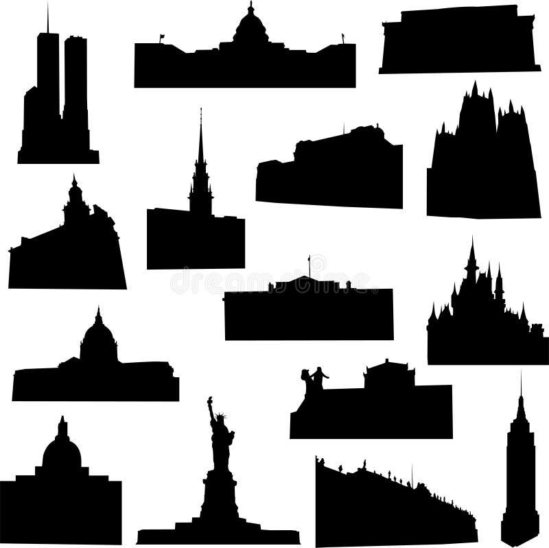 Arquitetura conhecida de América ilustração royalty free