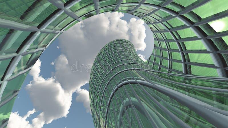 Arquitetura contemporânea ilustração do vetor