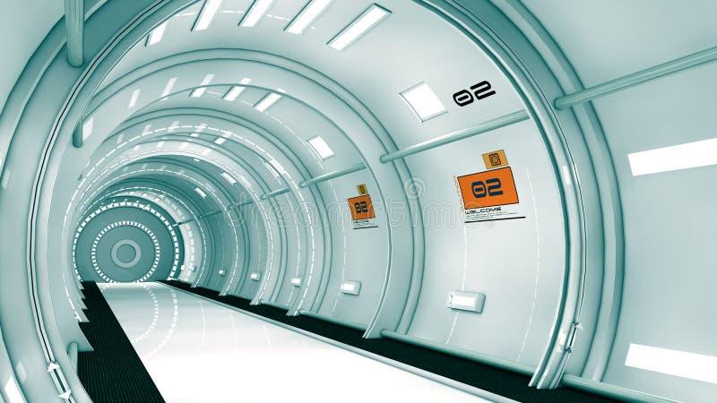 arquitetura 3d futurista ilustração stock