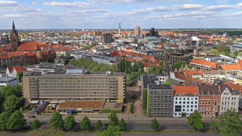 Arquitetura da cidade Alemanha de Hannover foto de stock