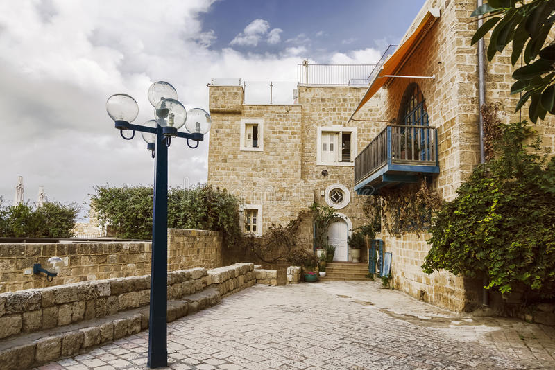 A arquitetura da cidade antiga de Jaffa imagem de stock