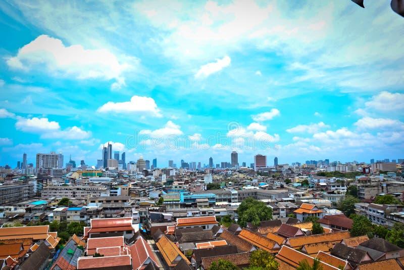 Arquitetura da cidade Banguecoque Tail?ndia imagem de stock