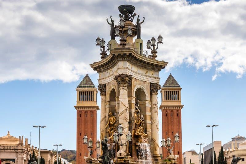 Arquitetura da cidade Barcelona spain das construções históricas imagens de stock royalty free