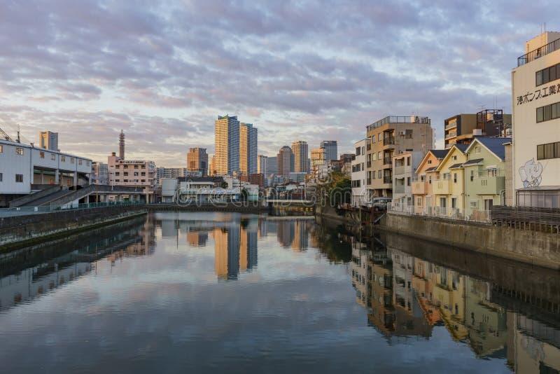 Arquitetura da cidade bonita em torno de Kanagawa-Ken imagens de stock
