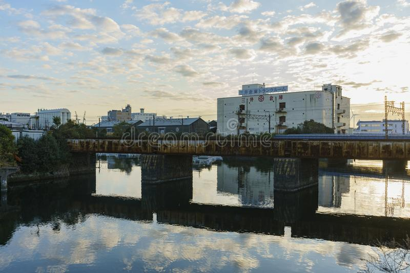 Arquitetura da cidade bonita em torno de Kanagawa-Ken fotos de stock