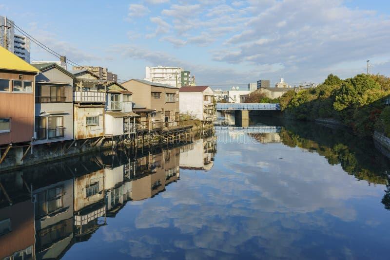Arquitetura da cidade bonita em torno de Kanagawa-Ken fotografia de stock