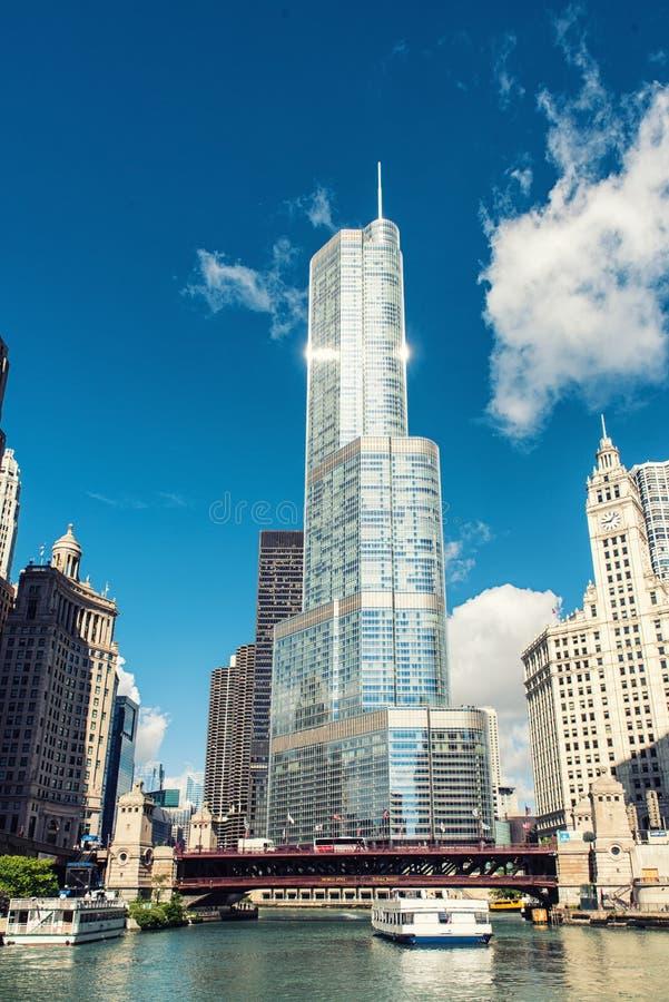 Arquitetura da cidade Chicago, Illinois fotos de stock