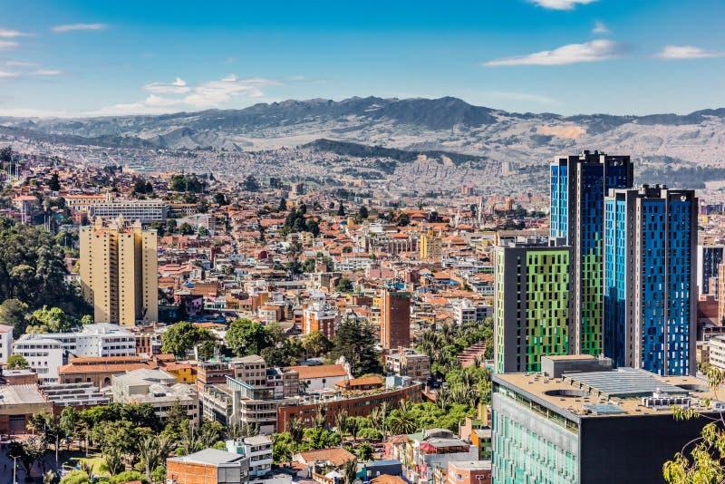 Arquitetura da cidade Colômbia da skyline de Bogotá imagem de stock
