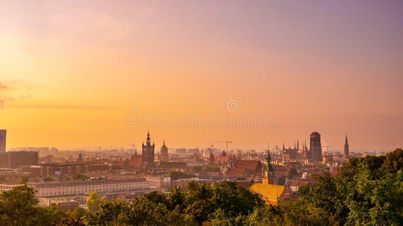 Arquitetura da cidade colorida de Gdansk imagem de stock