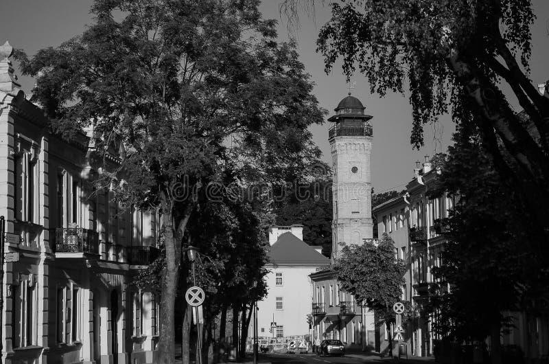 Arquitetura da cidade, construções velhas, vistas imagens de stock