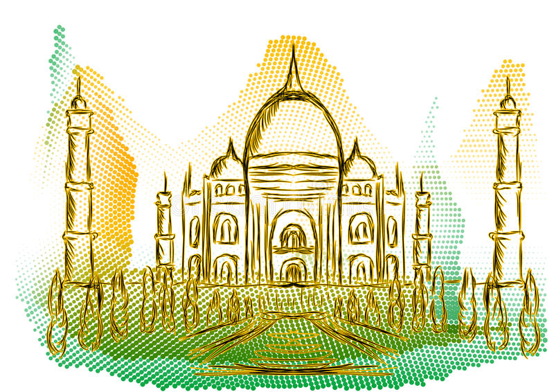 Arquitetura da cidade da Índia ilustração stock