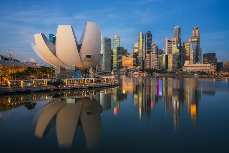 Arquitetura da cidade da cidade de Singapura fotografia de stock royalty free