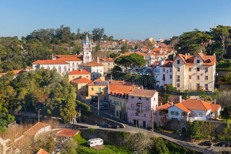 Arquitetura da cidade da cidade de Sintra imagem de stock