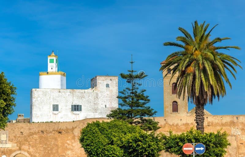 Arquitetura da cidade da cidade do EL Jadida em Marrocos imagem de stock