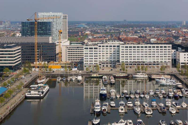 Arquitetura da cidade de Antwerpen B?lgica de cima de fotografia de stock royalty free